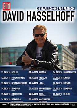 David Hasselhoff Deutschland Tour 2018